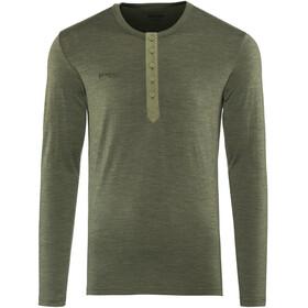Bergans M's Henley Wool Shirt Seaweed Melange